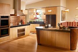 ... Maple Kitchen Cabinetry Design Materials For Modern Design Of Bright  Brown Smooth Natural Color Indoor ...