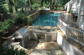 Swim Up Bar Home Pools Pool Spa Combo With Sunken Kitchen Swim Up