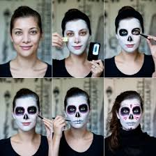 step by step sugar skull face painting the traditional mexican sugar