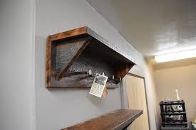 Reclaimed Wood Coat Rack Shelf Buy a Handmade Barn Wood Coat Rack made to order from Montana Stone 31