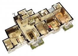 four bedroom house plans. Amazing 3d 3 Bedroom House Plans 4 Floor Pics Four
