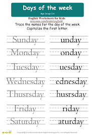 Worksheets Days Of The Week Days Of The Week In Spanish Worksheets Pdf