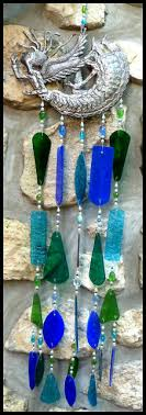 handcrafted stained glass wind chime angel design blue handcrafted stained glass windchimes 32 119 95