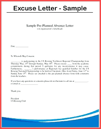 Absence Letter For School Sample Excuse Note For School Example Of Absence Letter Cooperative