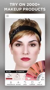 makeup beauty simulator hair try on face photo editor screenshot 2