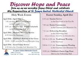 Easter Invitation Cards St James United Methodist Church