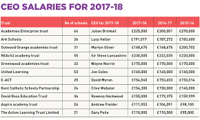 Charity Ceo Salaries Chart Uk The Ups And Downs Of Academy Trust Executive Pay In 2016 17