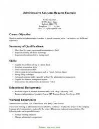 Resume Administrative Assistant Skills Summary Section Of Resume