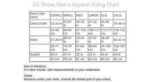 Dc Shoes T Shirt Size Chart Dc Shoes Detro Mens 4 Way Stretch Boardshorts Size 32 Black