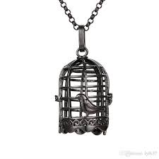 2019 geometric hollow metal birdcage pendants lockets cute aromatherapy perfume diffuser necklace pendant women 2018 fashion jewelry accessories from lyl637