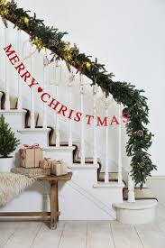 Christmas Decorating Ideas For Banisters christmas staircase decorations  inseltage new