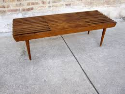 Slatted Coffee Table Circa Midcentury Danish Modern Walnut Slat Bench Coffee Table