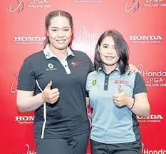 2018 honda lpga thailand. plain thailand sisters ariya left and moriya jutanugarn at yesterdayu0027s press conference  to announce the staging of 2018 honda lpga thailand in honda lpga thailand d