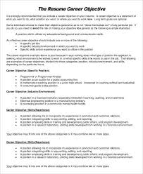 Effective Career Objective For Resumes 29 Resume Examples Pdf Doc Free Premium Templates