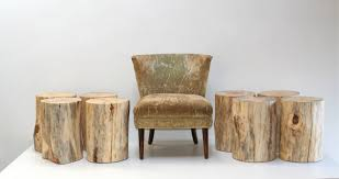 Image of: Tree Stump End Table Image