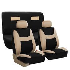 seat covers beige complete set upholstery w black floor mats sedan suv 3