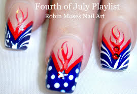 Easy DIY 4th of July Nail Art Design Tutorial - YouTube