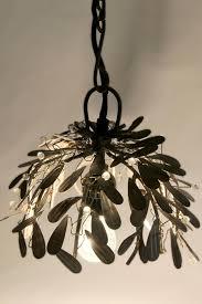 Leaf Light Fixture Vintage Bazaar Recycled Raw Metal Leaf Pendant Light