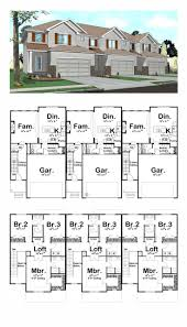 ideas about Duplex Plans on Pinterest   Duplex House Plans    Traditional Multi Family Plan   Story Duplex Floor