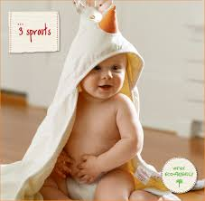 BabuBABY: ☆ 3 sprouts ☆ fluffy thick hearty hooded bath towel ...