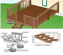 patio deck plans. Perfect Plans Free DIY Deck Porch Patio U0026 Stair Plans  Build Your Own Deck To K