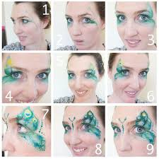 step by step pea face paint design