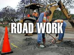 road work near garden grove civic center