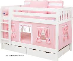 bunk bed curtains pink white bed accessories maxtrix