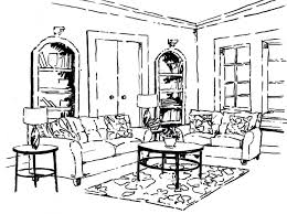 Living Room Coloring Similiar Living Room In A A Coloring Page Of A Cartoon People Keywords