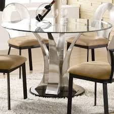 Dining Room:Modern Round Glass Dining Room Table Cool round glass dining  tables designs