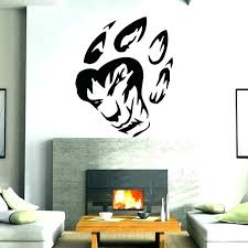 tribal wall art decor wolf paw mural vinyl canvas wall art sayings canvas decor inspirational print tribal