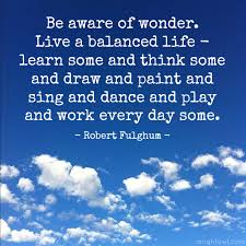Balanced Life Quotes Unique Live A Balanced Life Quote A Night Owl Blog