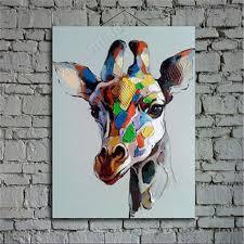 giraffe oil painting large oil painting abstract painting portrait painting hand painted on canvas by ape art studio