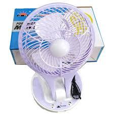 Quạt sạc mini đèn Led 2 chế độ sáng JR5580 - Giao màu ngẫu nhiên