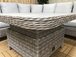signature weave sarah corner dining set