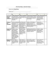Persuasive Essay Rubric Persuasive Writing Rubric Inclusive Classrooms Project