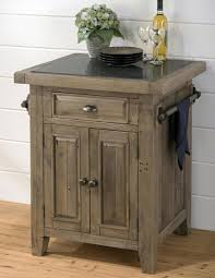 Granite Top Kitchen Cart Jofran 941 86 Reclaimed Pine Kitchen Cart W Granite Top Pull