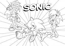 Coloring Pages Awesome Sonic The Hedgehog Coloring Pages Free 53