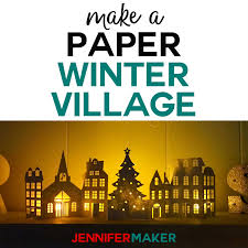 Find & download the most popular christmas vectors on freepik free for commercial use high quality images made for creative projects. Paper Christmas Village Houses Jennifer Maker