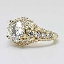 Antique Style Wedding Rings That Are Conflict Free
