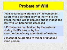 Image result for probate of will
