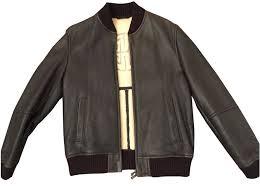 hugo boss er leather jacket men coats outerwear leather brown ref 85462