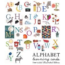 alphabet picture cards alphabet illustrated flash learning cards by naomi stay