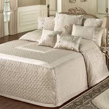 BEDROOM IDEAS: Beige Quilted Bedspreads And Oversized Bedspread ... & Beige Quilted Bedspreads And Oversized Bedspread Bedding Also Original  Carpet In Master Bedroom Adamdwight.com