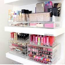 enchanting diy makeup organizer and diy makeup brush holder with makeup storage ideas for small es also great makeup organization in acrylic trays on