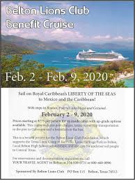 Jennie Robertson, Royal Caribbean Cruise... - Belton Lions Club   Facebook