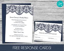 Download Free Wedding Invitation Templates For Word Lace Wedding Invitation Template FREE Response Card Template 11