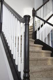 How to Stain/Paint an Oak Banister (the shortcut method...no