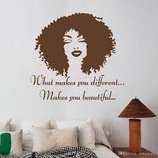 Großhandel Vertrauen Schöne Afro Mädchen Wand Poster Aufkleber