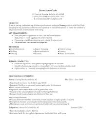 Nanny Resume Sample Berathen Com